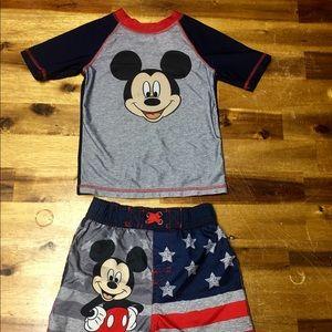 Boys Micky Mouse Swim Set Size 3T